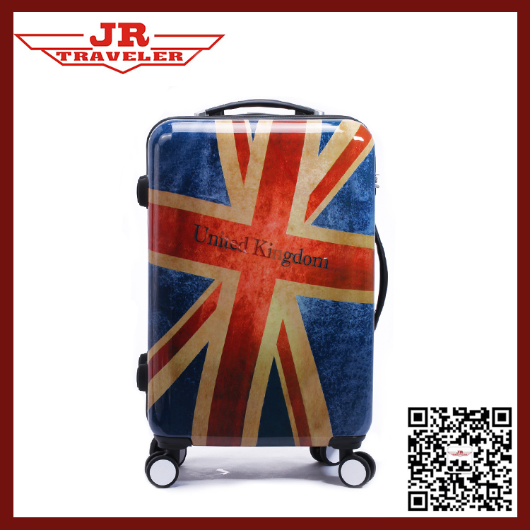CUSTOM MADE ABS/PC TROLLEY LUGGAGE SET/PC PRINTING LUGGAGE