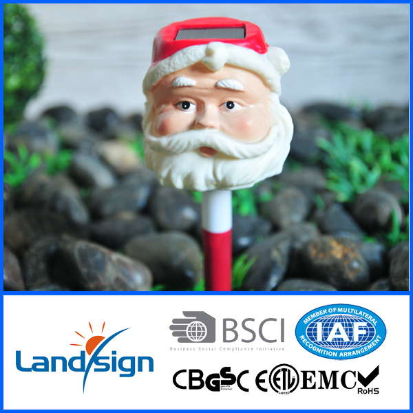 2016 New solar landscape outdoor festival decoration LED light plastic Santa Claus light for garden