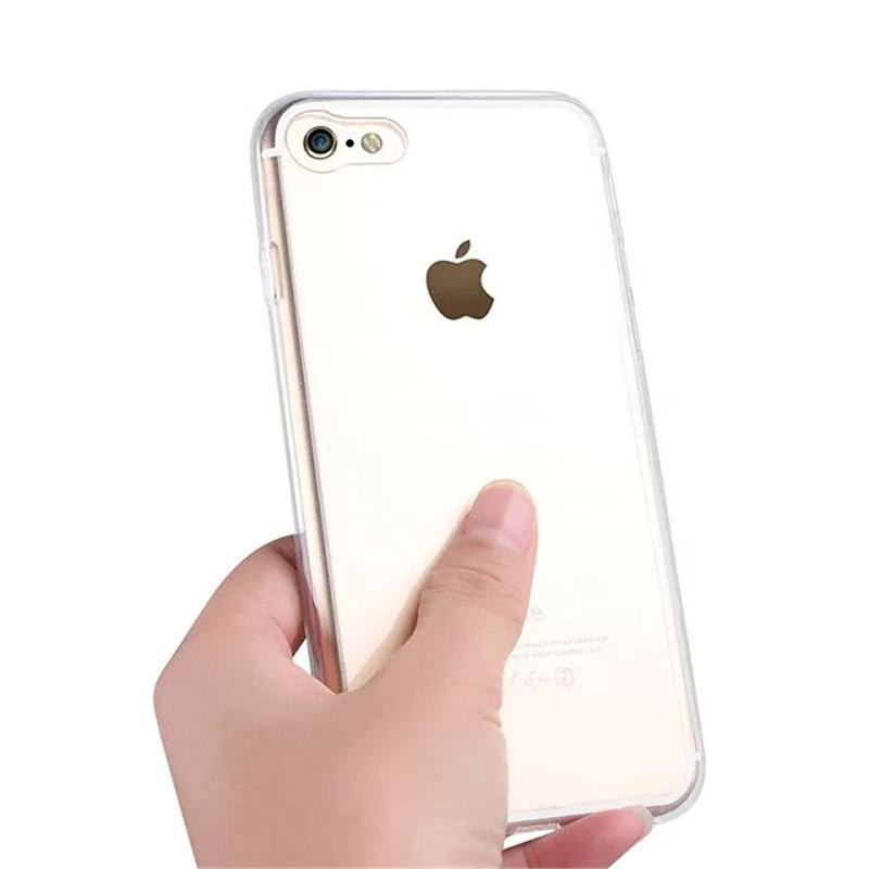 2017 Trending Products Transparent 2 in 1 TPU PC for iPhone 7 case