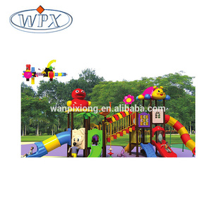 Children Large Outdoor Playground Plastic Slide Equipment Spiral Tube Slide for Sale