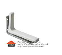 Metal shelf bracket with plastic cover corner bracket