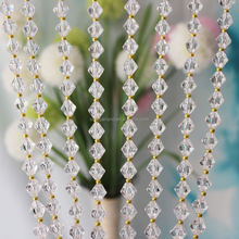 New Style Home Deco Acrylic Crystal Bead Curtains For Room Divider , Hanging Plastic Beaded Curtains For Christmas