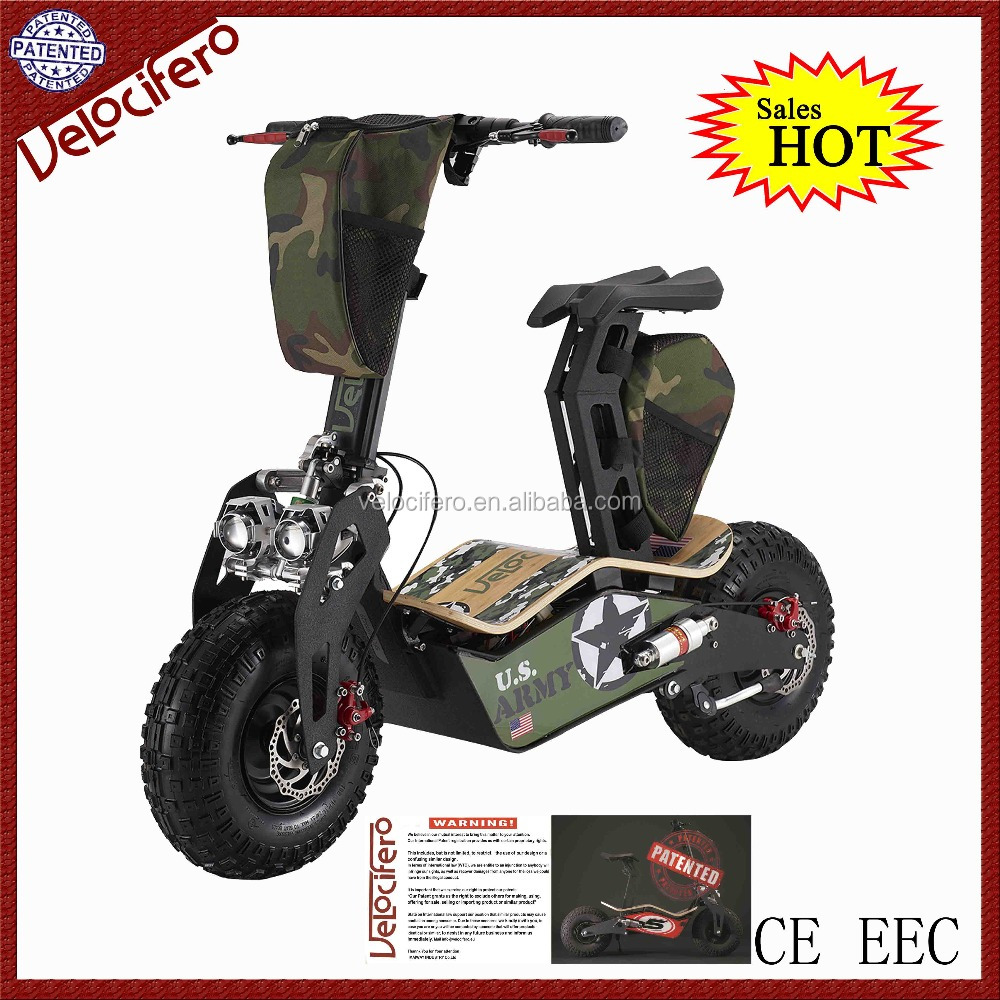 new products 2016 EEC 48V Velocifero 1600w brushless t3 electric scooter