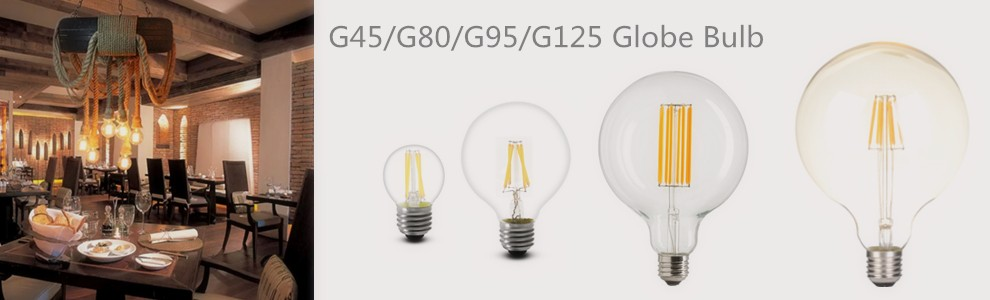 Alibaba factory-direct sale G25 G80 LED filament lamp with smoked tint glass