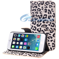 Leopard Texture Horizontal Flip Leather Case with Card Slots & Holder for iPhone 6 4.7""