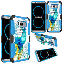Graphic Holster Case For Samsung S8 Edge Plus, Kickstand Robot Combo Mobile Phone Cover For S8 +