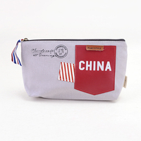 Languo stand up make up case/cosmetic case with the China's flag style nice design in high quality model:LGGQ-2652