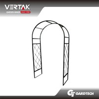 Rich experience hot sale metal garden arch with bench