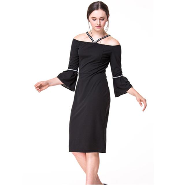 New Design Clothing Manufacturer Petite Off Shoulder Chiffon Women Dress