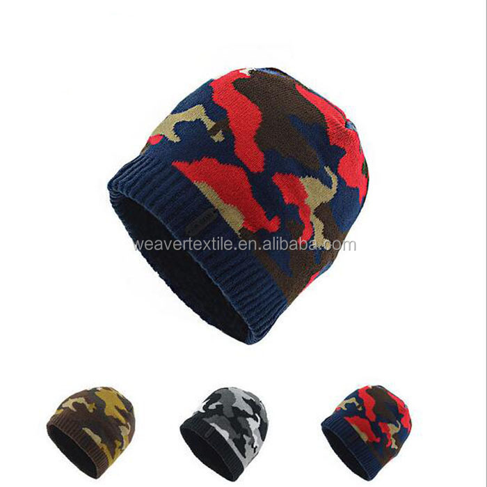 Fleece Beanie Army Green Hat Camo Camouflage Beanie for Men