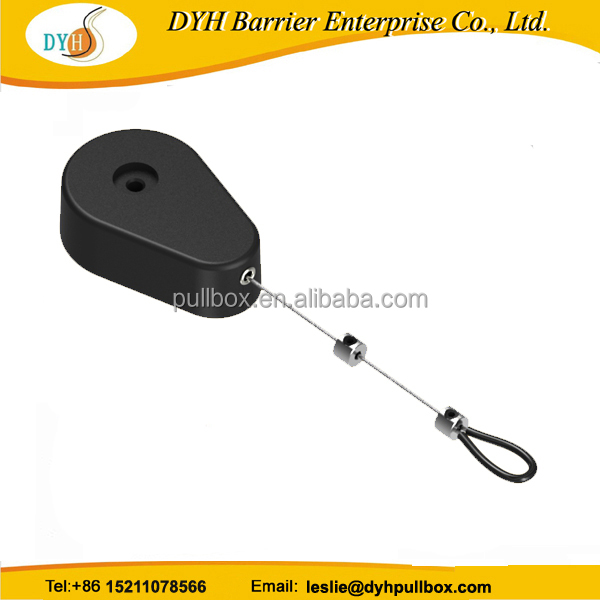 Factory hot selling alarm anti-theft pulling box, steel cable tether for ring, jewelry, moble phone display