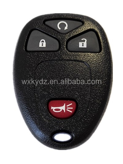 GM 4 Button Keyless Entry Remote key shell with components inside for Chevrolet- OUC60270, OUC60221