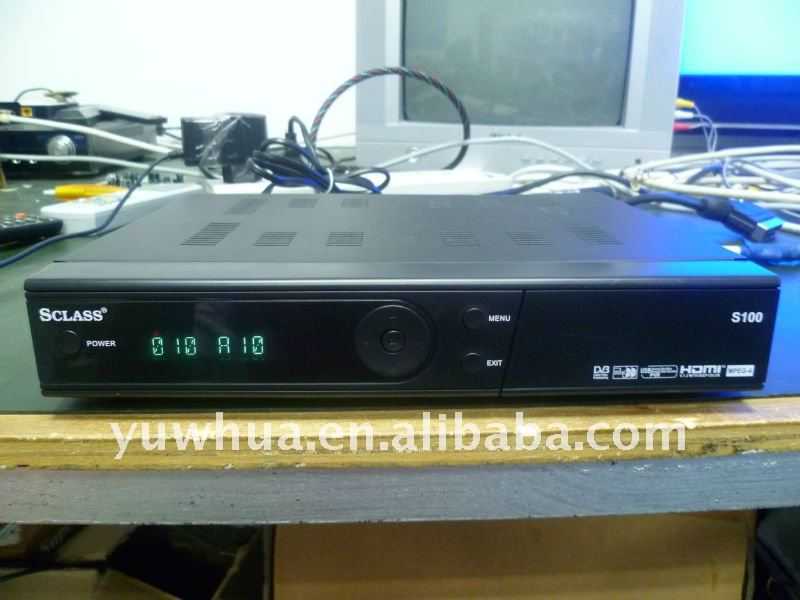 new software DVB-S2 1080p Sclass S100 CA satellite TV Receiver with low price