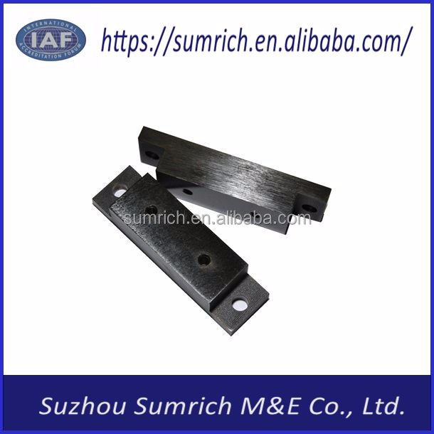 Customized OEM high precision CNC industry equipment part zine plating black astm-b-633 10 um gas spring bracket parts