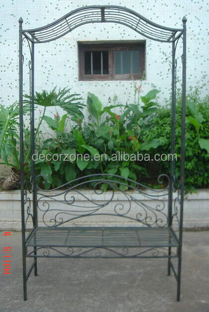Hot Sale Of Wrought Iron Garden Arch With Bench