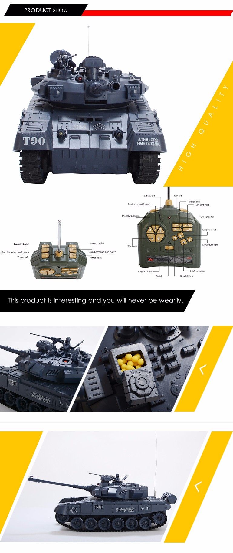 2017 trending products 18CH military tank toys 1:18 remote control car from china factory