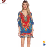 2016 New Style Printed Modern African Dress Designs Dashiki African Dress
