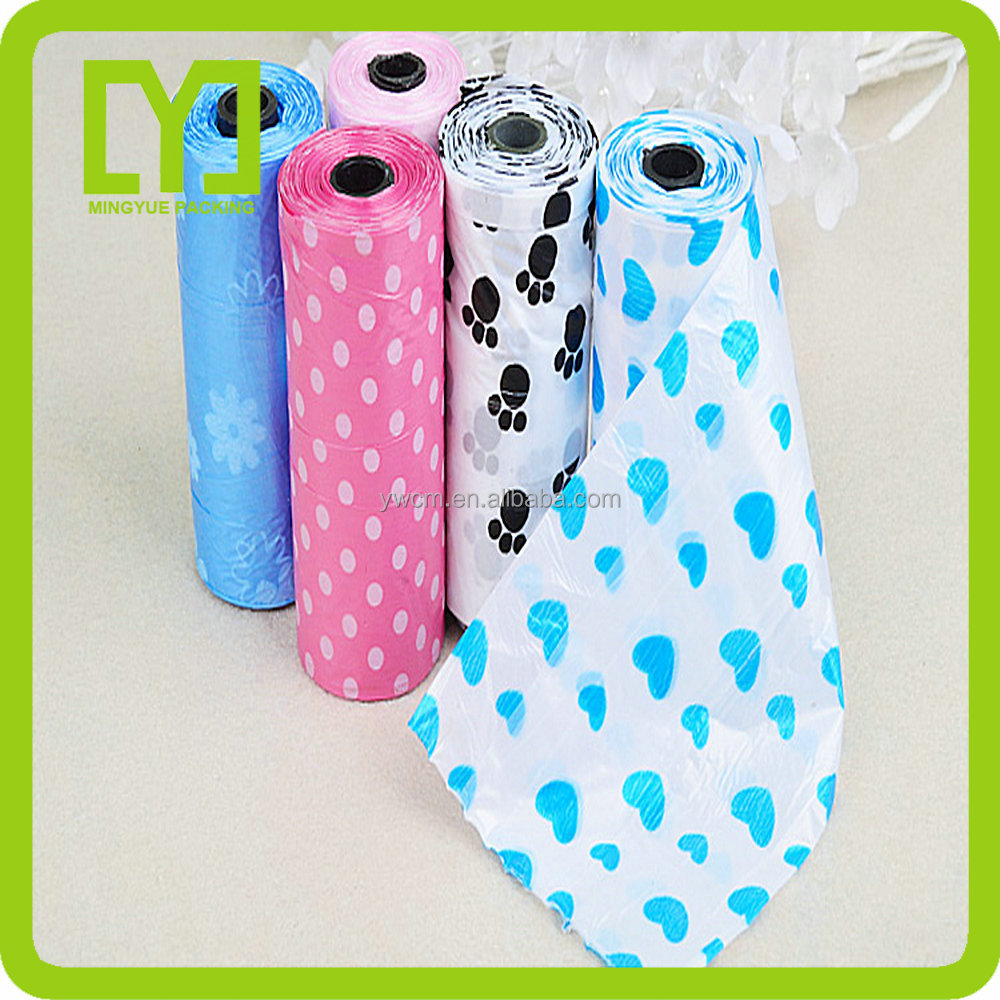 Yiwu Factory 2016 promotional DOG POO BAGS ON A ROLL