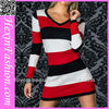 Wholesale V-neck Long Sleeve Sexy Girl Tight Mini Dress