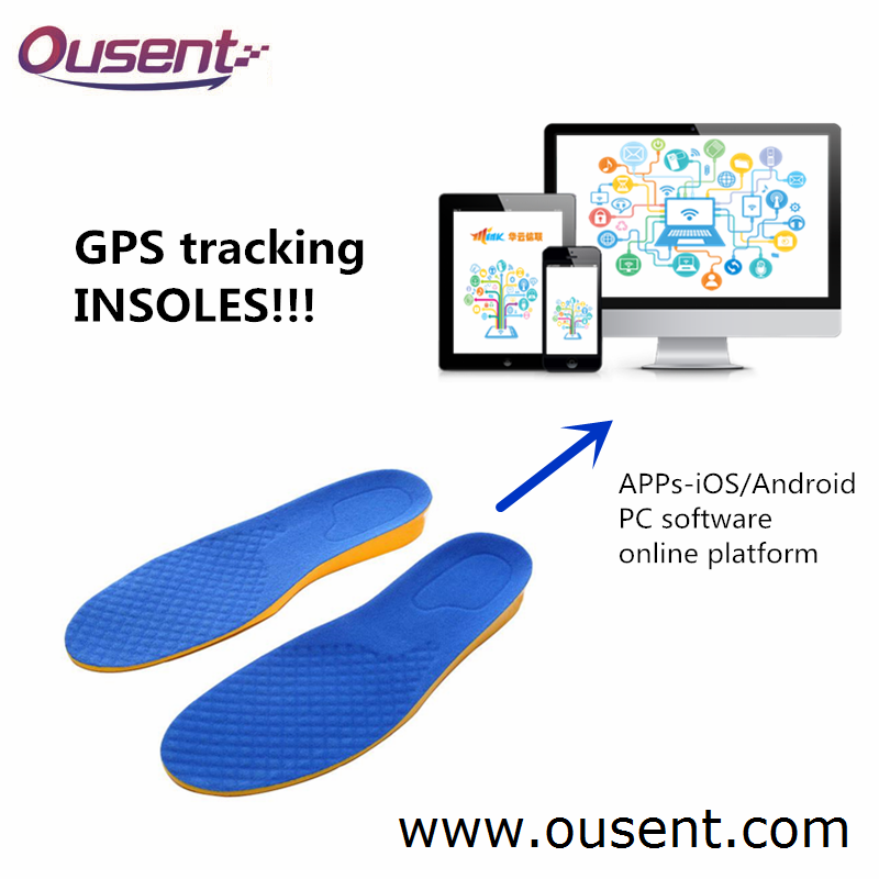 Customizable GPS Tracking Vibrating Insoles with Additional Functions GPS Shoe Tracker for Elderly and Kids Model HYXL-T1
