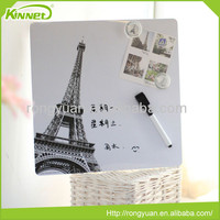 Writing paper custom fashion magnetic whiteboard stick on fridge