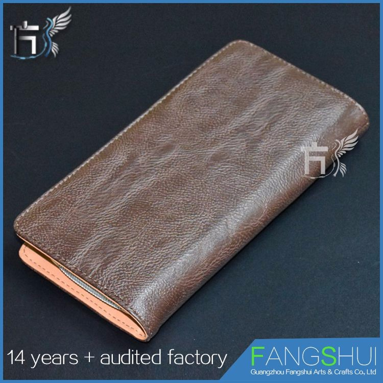 Best quality genuine leather money bag leather wallet