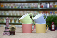 2016 new colorful glaze ceramic cheap soup mugs with handle