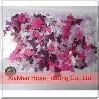 butterfly shape Biodegradable Tissue Paper wedding confetti multi color