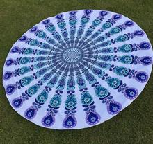 GSV certification stuffed promotion 100% cotton printed round beach towels made in China