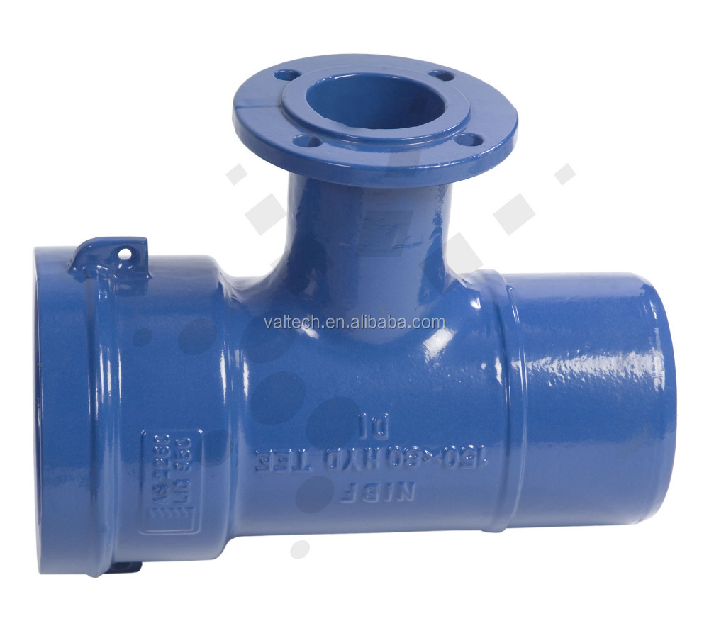 building, repairing maintaining water wastewater systems Ductile Iron double Pipe Fittings flange socket spigot end reducing tee