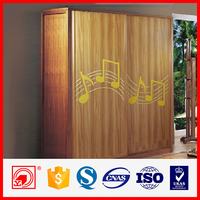 solid and hard high-end plastic board shutter sliding wardrobe door factory price