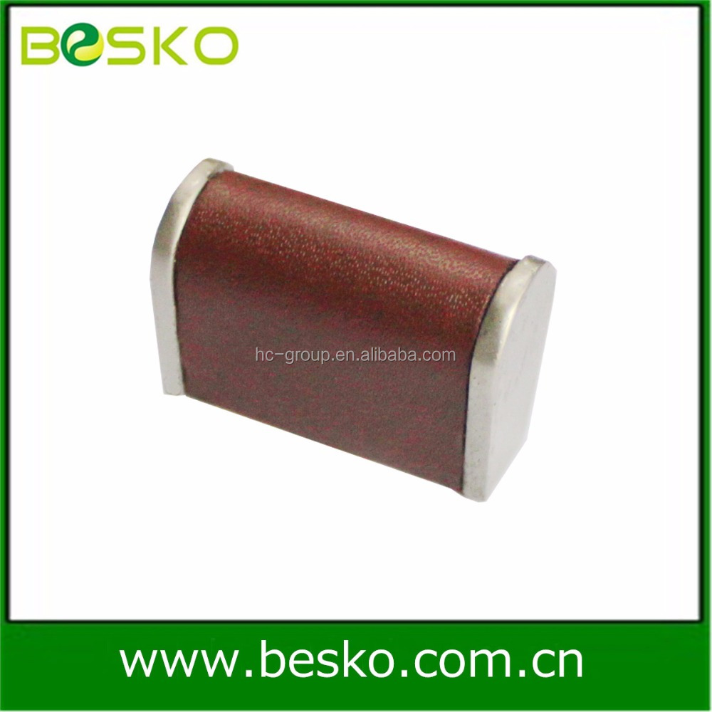 Leather furniture handle and cabinet leather handle