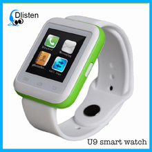 2016 New U9 Bluetooth smart watch mobile phone for Nokia Samsung wrist watch phone