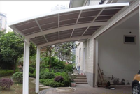 with polycarbonate sheet roof aluminum double carport/garage