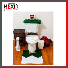 2015 3 PCs Christmas Decorations Happy Toilet Seat Cover and Rug Bathroom Set