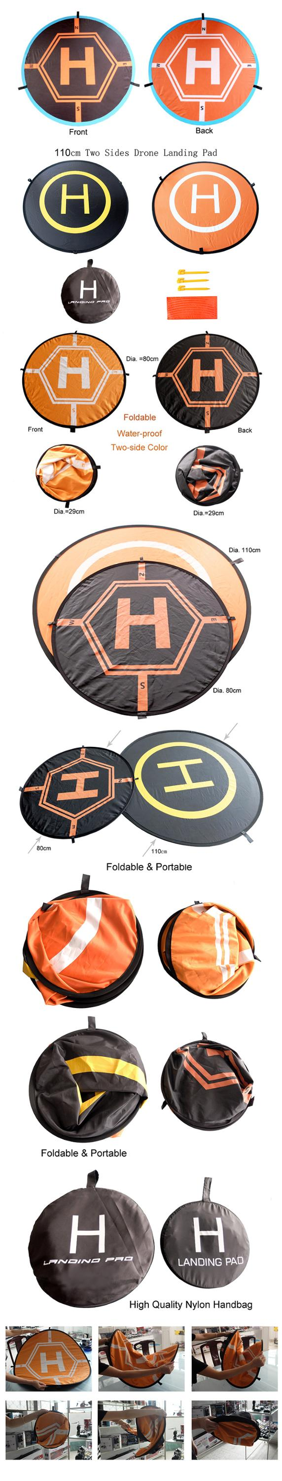 Folding Outdoor Waterproof Foldable Positioning Return Landing Base Pad with Reflective Strips