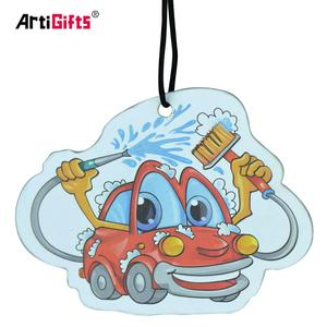High end hanging absorbent paper card funny car air freshener