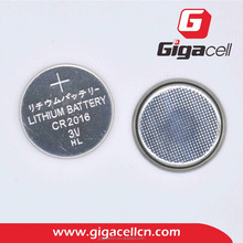 2017 hot sales! 3V Lithium Manganese button cell CR2016 battery