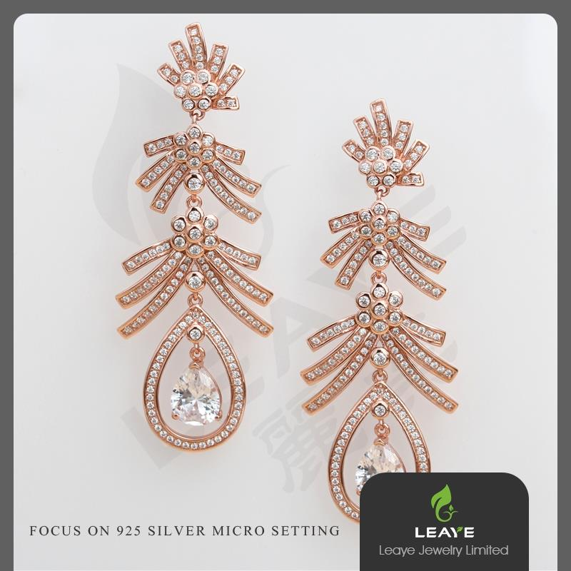 Women Costume Turkish Jewellery Micro-paved Stud Earrings