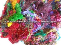Multicolored Sari Silk Fibers ideal for Spinning