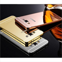 Aluminium metal frame bumper Mirror cover case For Samsung Galaxy S4 S3 S6 EDGE NOTE 3 4 5 A3 A5 A7 J5 J7 Series