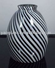 black and white color blown glass lamp cover