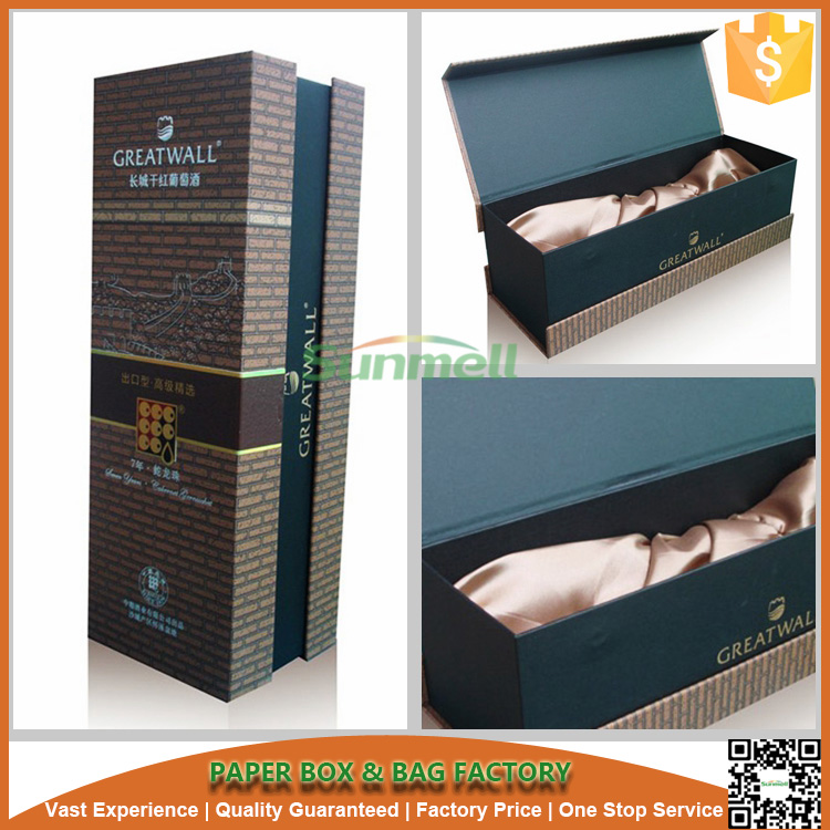 custom luxury leather portable wine carrier box