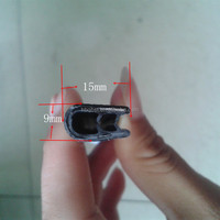 u shaped rubber seal with metalic inserts/PVC decorative car door edge trim seal/weather strip
