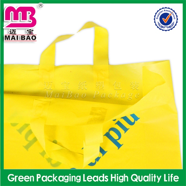 Low price guarantee well printing coloured ldpe soft loop handle plast