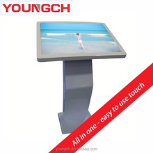 Floor pedestal touch interactive kiosk lcd monitor 47 inch info point machine advertising infotouch play content handling system