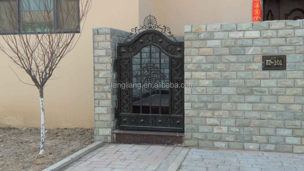 2016 garden/home wrought small iron gate designs simple HL-I-G-027