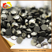 Popular hot sale Round shape machine cut gemstone Natural iron pyrite stone s for jewelry making
