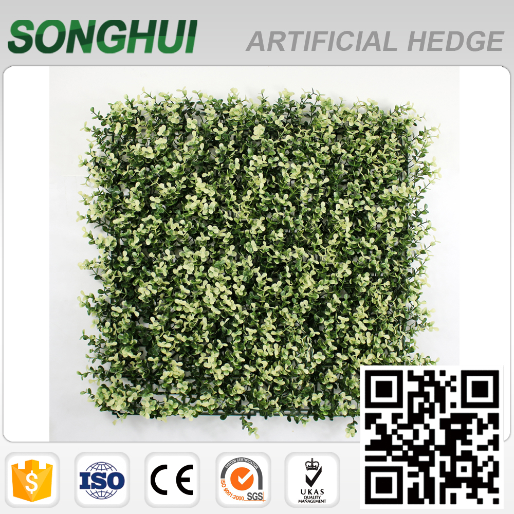 2017 customized white artificial leaf hedges with SGS for home art