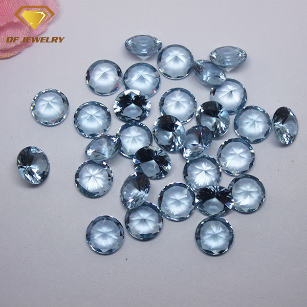 Light Blue Gemstone Synthetic 108# Round Spinel